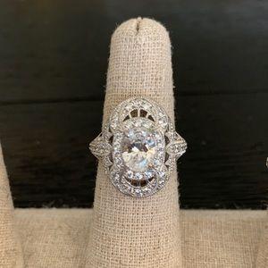 Swarovski Pavé Oval Vintage Ring